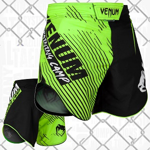 Venum - Fightshorts MMA Shorts / Training Camp 2.0 / Schwarz-Neo / Medium
