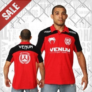 Venum - Polo Shirt / Jose Aldo Junior Signature / Rot-Schwarz / Medium