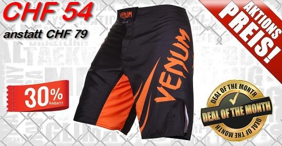 VENUM - MMA Shorts Challenger / Black-Orange
